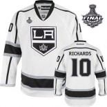 Reebok Los Angeles Kings #10 Mike Richards White Road Authentic With 2014 Stanley Cup Jersey  For Sale Size 48/M|50/L|52/XL|54/XXL|56/XXXL