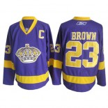 Reebok Los Angeles Kings #23 Dustin Brown Purple Authentic Jersey  For Sale Size 48/M|50/L|52/XL|54/XXL|56/XXXL
