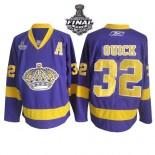 Reebok Los Angeles Kings #32 Jonathan Quick Purple Premier With 2014 Stanley Cup Jersey  For Sale Size 48/M|50/L|52/XL|54/XXL|56/XXXL