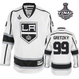 Reebok Los Angeles Kings #99 Wayne Gretzky White Road Authentic With 2014 Stanley Cup Jersey  For Sale Size 48/M|50/L|52/XL|54/XXL|56/XXXL