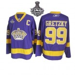 Reebok Los Angeles Kings #99 Wayne Gretzky Purple Premier With 2014 Stanley Cup Jersey  For Sale Size 48/M|50/L|52/XL|54/XXL|56/XXXL