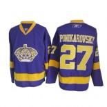 Reebok Los Angeles Kings #27 Alexei Ponikarovsky Purple Premier Jersey  For Sale Size 48/M|50/L|52/XL|54/XXL|56/XXXL