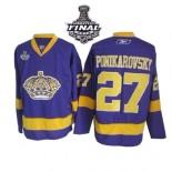 Reebok Los Angeles Kings #27 Alexei Ponikarovsky Purple Premier With 2014 Stanley Cup Jersey  For Sale Size 48/M|50/L|52/XL|54/XXL|56/XXXL