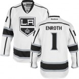 Los Angeles Kings #1 Jhonas Enroth Authentic White Away Jersey Cheap Online 48|M|50|L|52|XL|54|XXL|56|XXXL