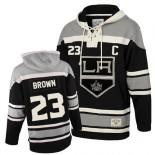 Old Time Hockey Los Angeles Kings #23 Dustin Brown Black Authentic Sawyer Hooded Sweatshirt Jersey Cheap Online 48|M|50|L|52|XL|54|XXL|56|XXXL