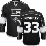 Marty Mcsorley Authentic Home Black Jersey - Los Angeles Kings #33 Clothing