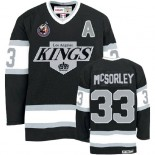 Marty Mcsorley Authentic Throwback Black Jersey - CCM LA Kings #33 Clothing