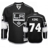 Dwight King Authentic Home Black Jersey - Los Angeles Kings #74 Clothing