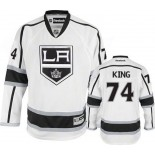 Dwight King Premier Away White Jersey - Los Angeles Kings #74 Clothing