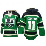 Old Time Hockey Los Angeles Kings #11 Anze Kopitar Green Premier St. Patrick's Day McNary Lace Hoodie Jersey Cheap Online 48|M|50|L|52|XL|54|XXL|56|XXXL