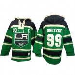Old Time Hockey Los Angeles Kings #99 Wayne Gretzky Green Authentic St. Patrick's Day McNary Lace Hoodie Jersey Cheap Online 48|M|50|L|52|XL|54|XXL|56|XXXL