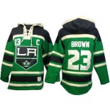Old Time Hockey Los Angeles Kings #23 Dustin Brown Green Authentic St. Patrick's Day McNary Lace Hoodie Jersey Cheap Online 48|M|50|L|52|XL|54|XXL|56|XXXL