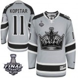 Anze Kopitar Authentic Gray 2014 Stadium Series With 2014 Stanley Cup Jersey - Los Angeles Kings #11 Clothing