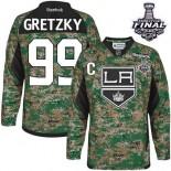 Los Angeles Kings #99 Wayne Gretzky Camo Premier Veterans Day Practice Stanley Cup Jersey Cheap Online 48|M|50|L|52|XL|54|XXL|56|XXXL