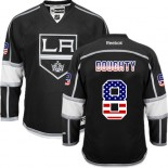 Drew Doughty Authentic Black USA Flag Fashion Jersey - Los Angeles Kings #8 Clothing