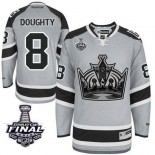 Drew Doughty Authentic Gray 2014 Stadium Series With 2014 Stanley Cup Jersey - Los Angeles Kings #8 Clothing