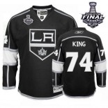 Dwight King Authentic Home Black With 2014 Stanley Cup Jersey - Los Angeles Kings #74 Clothing