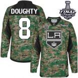 Los Angeles Kings #8 Drew Doughty Camo Premier Veterans Day Practice Stanley Cup Jersey Cheap Online 48|M|50|L|52|XL|54|XXL|56|XXXL