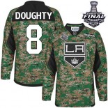 Youth Los Angeles Kings #8 Drew Doughty Camo Premier Veterans Day Practice Stanley Cup Jersey Cheap Online S|M|L|XLLarge