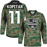 Youth Los Angeles Kings #11 Anze Kopitar Camo Premier Veterans Day Practice Jersey Cheap Online S|M|L|XLLarge