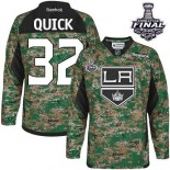 Youth Los Angeles Kings #32 Jonathan Quick Camo Premier Veterans Day Practice Stanley Cup Jersey Cheap Online S|M|L|XLLarge