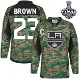 Youth Los Angeles Kings #23 Dustin Brown Camo Premier Veterans Day Practice Stanley Cup Jersey Cheap Online S|M|L|XLLarge