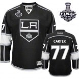 Youth Los Angeles Kings #77 Jeff Carter Premier Black Home 2014 Stanley Cup Jersey Cheap Online Small/Medium|Large/Extra Large