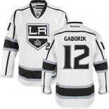 Los Angeles Kings #12 Marian Gaborik White Authentic Away Jersey Cheap Online 48|M|50|L|52|XL|54|XXL|56|XXXL