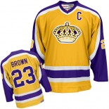 Dustin Brown Authentic Gold Jersey - Los Angeles Kings #23 Clothing