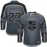 Los Angeles Kings #23 Dustin Brown Charcoal Authentic Cross Check Fashion Jersey Cheap Online 48|M|50|L|52|XL|54|XXL|56|XXXL