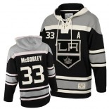 Marty Mcsorley Authentic Black Sawyer Hooded Sweatshirt - Old Time Hockey LA Kings #33 Clothing