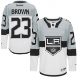 Dustin Brown Authentic Gray White 2015 Stadium Series Jersey - Los Angeles Kings #23 Clothing