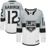 Marian Gaborik Premier Gray White 2015 Stadium Series Jersey - Los Angeles Kings #12 Clothing