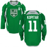 Anze Kopitar Authentic Green Practice Jersey - Los Angeles Kings #11 Clothing