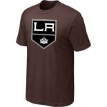 Los Angeles Kings Big & Tall Team Logo Brown T-Shirt Jersey Cheap For Sale
