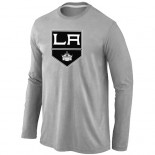 Los Angeles Kings Big & Tall Team Logo Grey Long Sleeve T-Shirt Jersey Cheap For Sale
