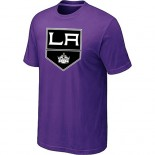 Los Angeles Kings Big & Tall Team Logo Purple T-Shirt Jersey Cheap For Sale