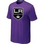 Los Angeles Kings Team Logo Purple T-Shirt Jersey Cheap For Sale