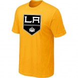 Los Angeles Kings Team Logo Yellow T-Shirt Jersey Cheap For Sale
