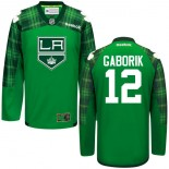 Marian Gaborik GreenSt. Patrick's Day Stitched Jersey - Los Angeles Kings #12 Clothing