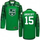 Andy Andreoff GreenSt. Patrick's Day Stitched Jersey - Los Angeles Kings #15 Clothing