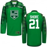Nick Shore St. Patrick's Day Stitched Jersey - Los Angeles Kings #21 Clothing