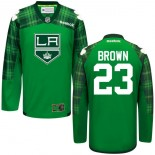 Dustin Brown GreenSt. Patrick's Day Stitched Jersey - Los Angeles Kings #23 Clothing