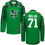 Jordan Nolan GreenSt. Patrick's Day Stitched Jersey - Los Angeles Kings #71 Clothing