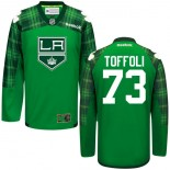 Tyler Toffoli GreenSt. Patrick's Day Stitched Jersey - Los Angeles Kings #73 Clothing