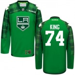 Dwight King GreenSt. Patrick's Day Stitched Jersey - Los Angeles Kings #74 Clothing