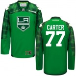 Jeff Carter GreenSt. Patrick's Day Stitched Jersey - Los Angeles Kings #77 Clothing