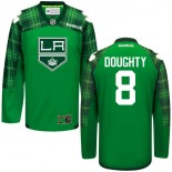 Drew Doughty GreenSt. Patrick's Day Stitched Jersey - Los Angeles Kings #8 Clothing
