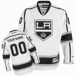 Reebok Los Angeles Kings Customized White Road Authentic Jersey For Sale Size 48/M|50/L|52/XL|54/XXL|56/XXXL
