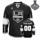 Reebok Los Angeles Kings Customized Black Home Authentic With 2014 Stanley Cup Finals Jersey For Sale Size 48/M|50/L|52/XL|54/XXL|56/XXXL